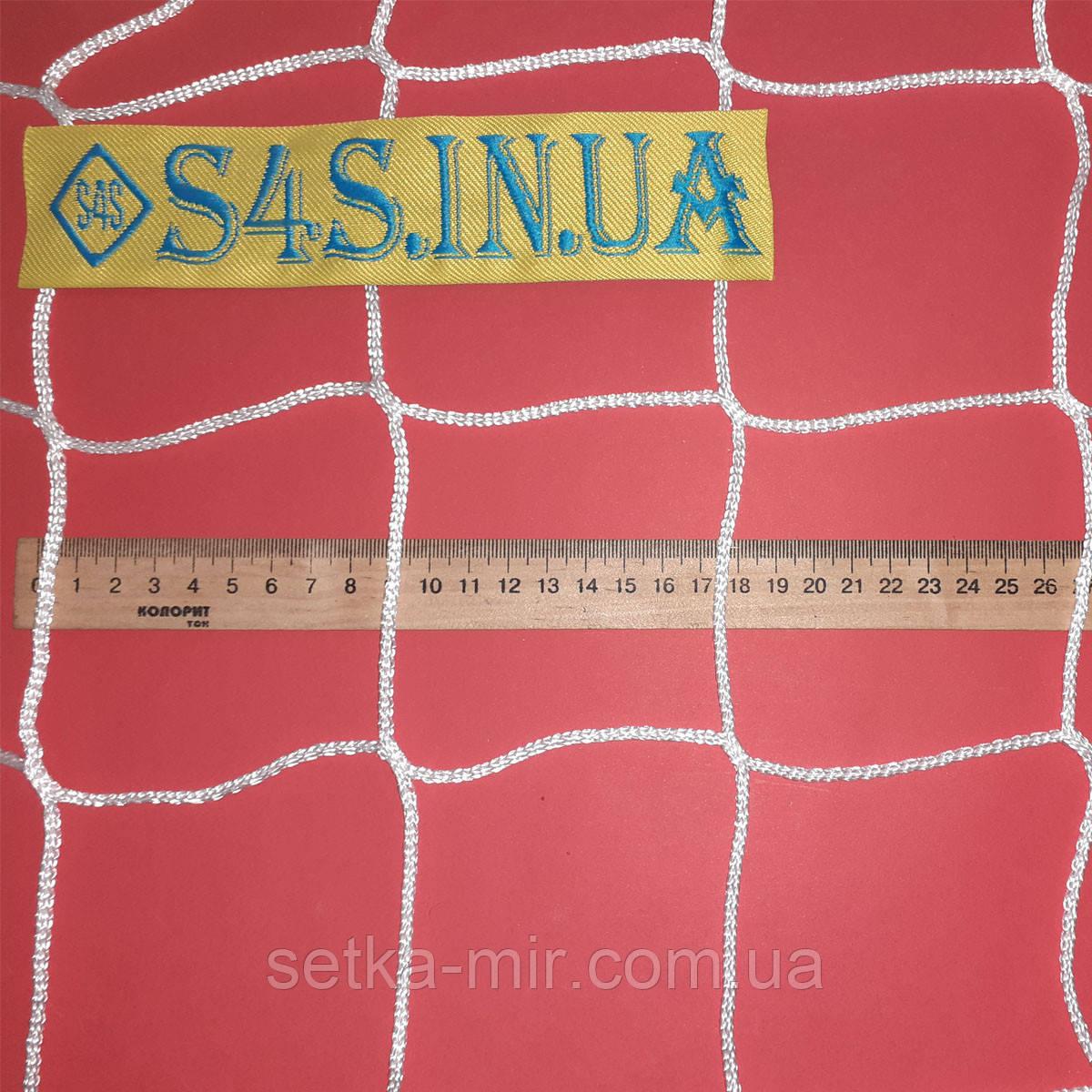 Сетка оградительная безузловая испанская, полиэстер, D – 3 мм, ячейка – 10 см, белая