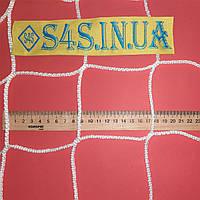 Спортивная сетка безузловая испанская, полипропилен, D – 3 мм, ячейка – 10 см, для ограждения площадок, белая, фото 1