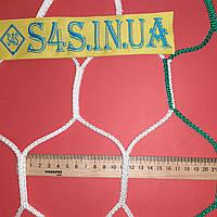 Сетка оградительная безузловая испанская, полипропилен, шестиугольная, D – 4мм, ячейка – 12 см, бело-зелёная, фото 1