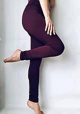 Бесшовные  женские лосины №51 бордовые, фото 2