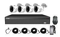 Комплект AHD видеонаблюдения 4 камеры 2Мп