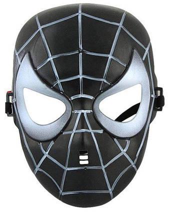 Маска Веном ABC человек паук черный Симбиот, фото 2