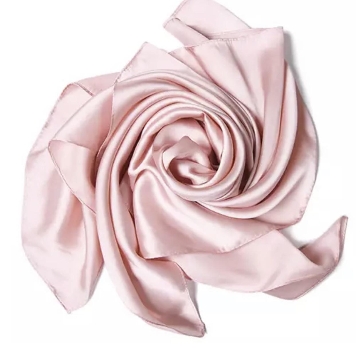 Платок 70*70 см нежно розовый