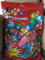 """Кульки повітряні """"Globos"""" Happy Birthday великі 100шт (1/1)"""
