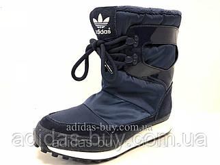 Женские оригинал зимние сапоги adidas Snowrush S81384 цвет:синий