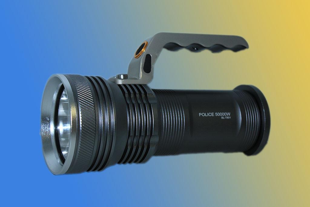 Фонарь-прожектор Police BL-T 801 ( 2x18650/T5/99000W )
