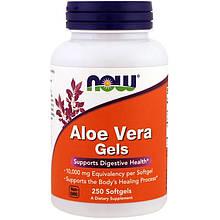"""Алоэ вера NOW Foods """"Aloe Vera Gels"""" здоровье пищеварительной системы (250 гелевых капсул)"""