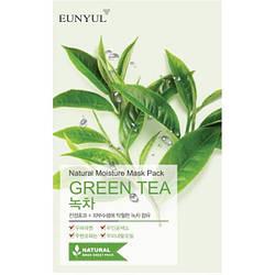 Зволожуюча тканинна маска з екстрактом зеленого чаю Eunyul Natural Moisture Mask Pack Green Tea