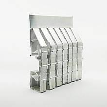 Профиль алюминиевый для натяжных потолков - двухуровневый ПЛ-75, с подсветкой, с пропилами. Длина профиля 2,5 м.