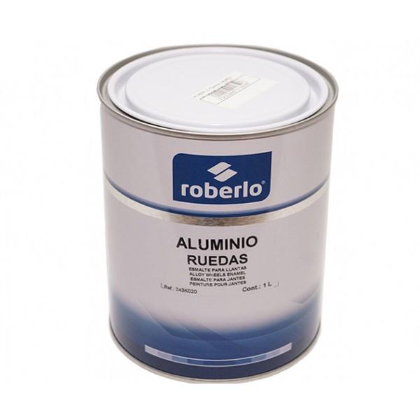 Краска для дисков ROBERLO Aluminio (1л) RAL 9006 серебристая быстросохнущая