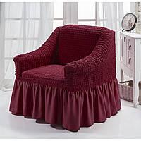 Чехол на кресло с юбкой Бордовый Burumcuk Arya Турция AR-1063214-bordo