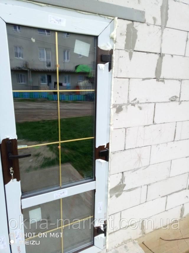 Ламинированные пластиковые двери входные - бригада №9
