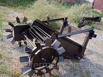 Картофелекопалка транспортерная для мотоблока (привод от задних колес)