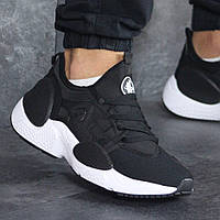Мужские кроссовки Nike 8201 чёрные с белым, фото 1