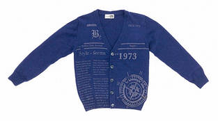 Детский кардиган для мальчика Byblos Италия BU1335 темно-синий