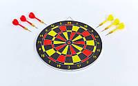 Мишень для игры в дартс из прессованной бумаги BL-62325 12in Baili (d-30см,в комплек. 6 дротиков 8g)