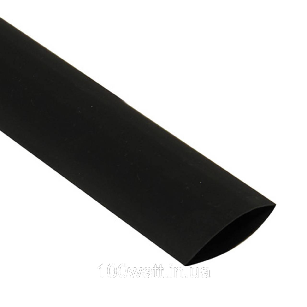 Трубка термоусадочна c клеєм 25.4/8.47 мм, чорна (1м) GAV 365-25.4