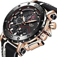 Мужские наручные часы LIGE 9899 - Золото