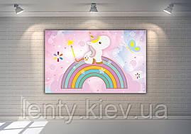 """Плакат для Кенді - бару 120х75 см (Тематичний) """"Маленький Єдиноріг"""" -"""
