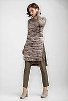 Женская удлиненная туника джемпер с высокими разрезами, фото 1