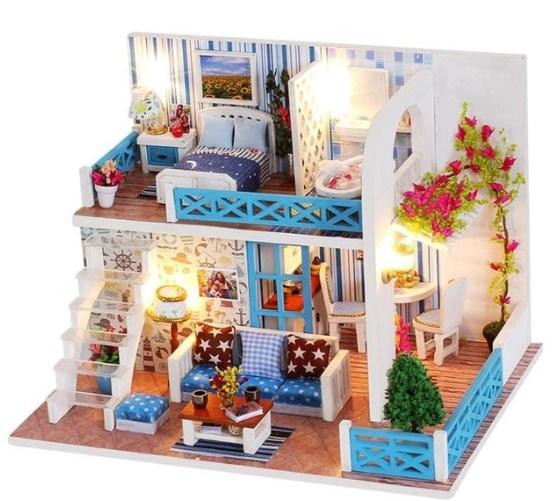 Кукольные домики миниатюры, DIY набор для сборки, ночники