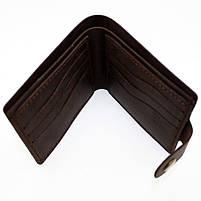 Кошелек кожаный мужской темно-коричневый, фото 3