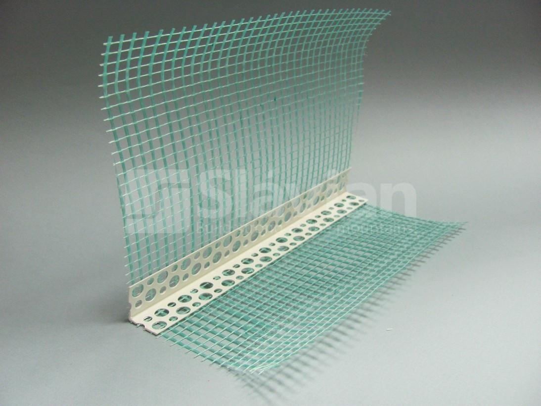Уголок ПВХ перфорированный с сеткой 10х15см, 2,5м УЦЕНКА
