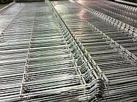 Секция ограждения длиной 2500 мм из сварной сетки 3D, СТАНДАРТ цинк, 4/4 мм, PROMZABOR, Украина, высота секции