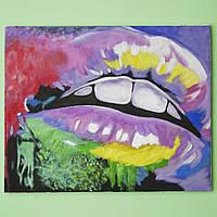 """Картина """"Цветные губки"""", 500 х 500 мм, масло"""
