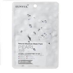 Зволожуюча тканинна маска для обличчя з екстрактом перлів Eunyul Pearl Natural Moisture mask pack