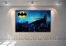 """Плакат для Кенді - бару 120х75 см (Тематичний) """"Бетмен / Бетмен / Batman"""" (синій)-"""