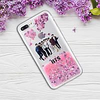 Чехол с принтом на Iphone 5\5S\SE с группой BTS (Силикон TPU Liquid Сase)