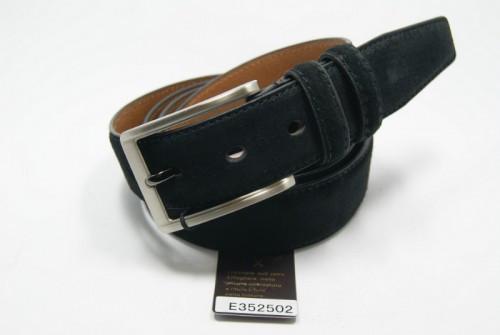Ремень брючный классический кожаный (черный) ALON