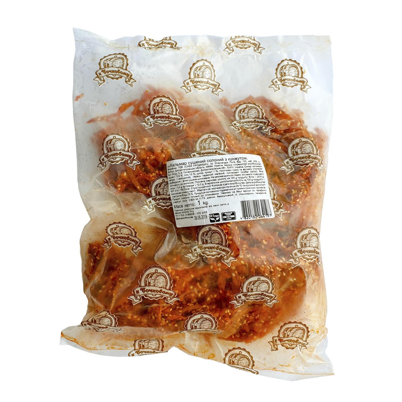 Полоски кальмара с конжутом. Пакет 1 кг