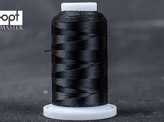 Нитка № 60 обувная полиэстер для машинки Версаль, цв. черный (114), 500 м