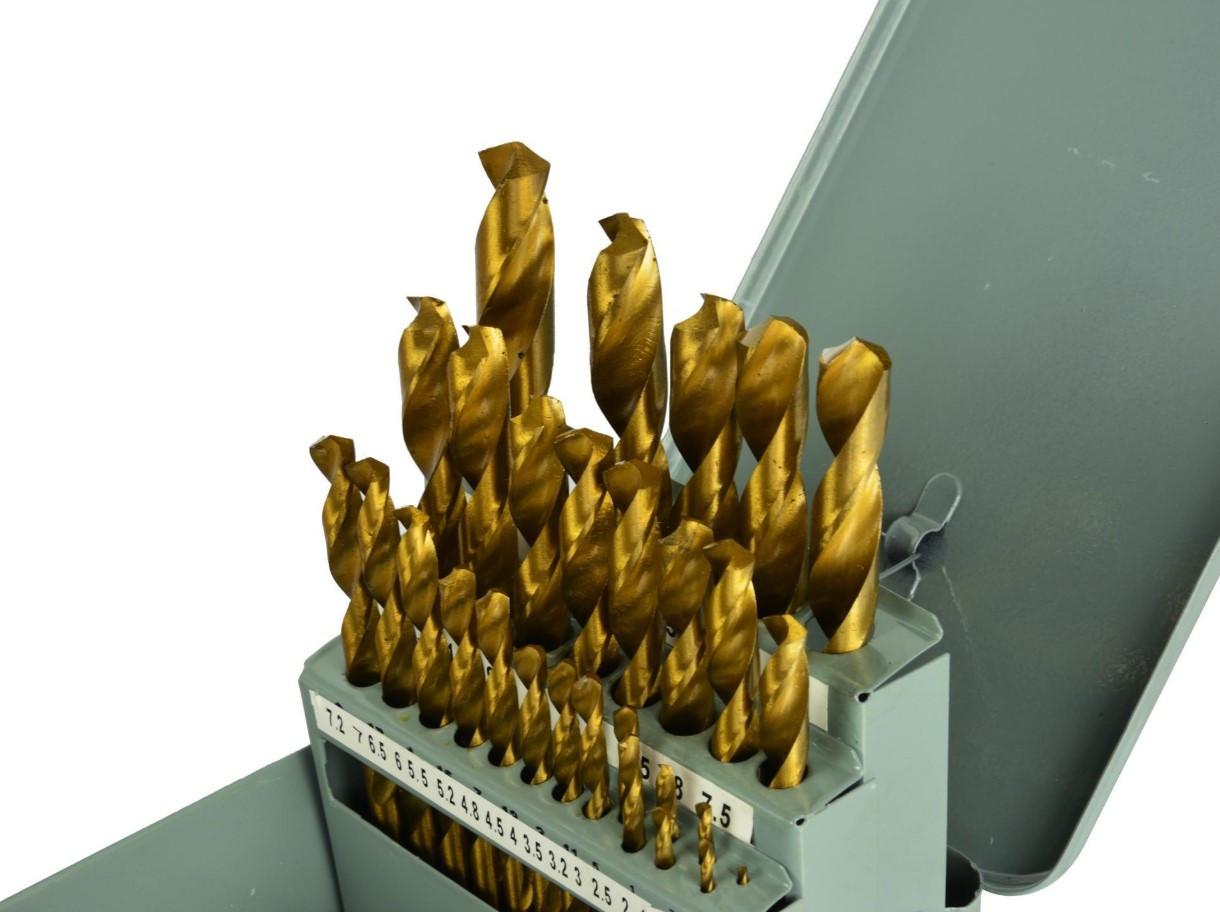Набор сверл по металлу Profi в металлическом кейсе 1.5-13.0 мм (желтые) GEKO G38235