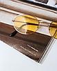 Солнцезащитные очки женские желтые стеклянные овальные в, фото 2