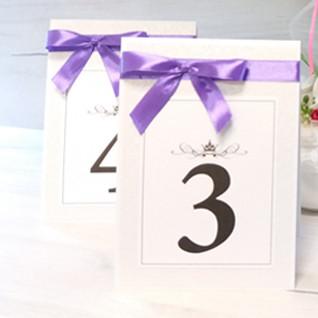 Номерки на свадебный стол: дизайнерская работа