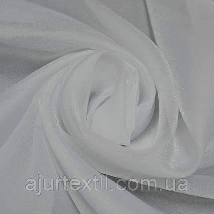 """Тюль елит """"Мерцание"""" белый, фото 2"""