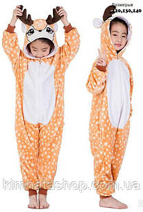 Детская пижама кигуруми Олененок  на рост 130,140 см