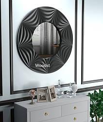 Зеркало настенное круглое Tallinn черное