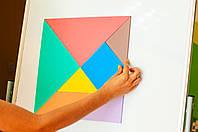 Танграм кольоровий на магнітах 35 см., фото 1