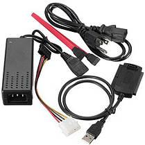 Адаптер Кабель USB \ IDE SATA + адаптор USB 2.0 переходник адаптер для жесткого диска SATA IDE 2,5 3,5, фото 3