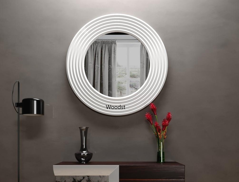 Зеркало настенное круглое Havana белое