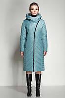 Модное женское зимнее пальто из плащевой тканипрямого и полуприлегающего силуэта, качество р.48,58, код 3749М