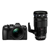 Цифровий фотоапарат OLYMPUS E-M1 mark II Double Zoom PRO 12-40+40-150Kit B/B/B (V207061BE010)