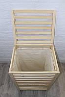 Универсальная деревянная корзина для хранения: вещей, одежды, белья 700*500*400 / Корзины деревянные