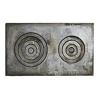 Плита чугунная 2-х комфорочная (Б) наборка
