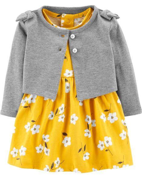 """Платье с кофточкой Картерс """"Весенние цветы"""" 3м,12м,18м"""