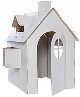 Детский домик из картона, картонный дом для игр и рисования, раскраска.